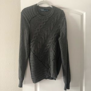 Polo Ralph Lauren Grey Cashmere Cable Knit Sweater